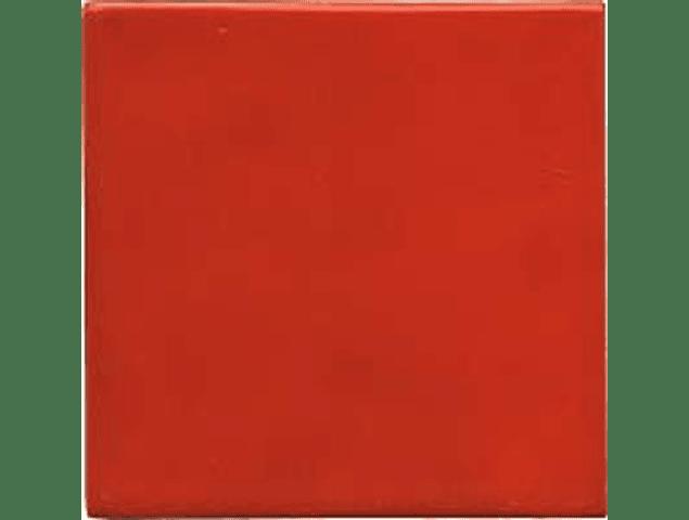 Azulejo feito à mão - Cor  Vermelho