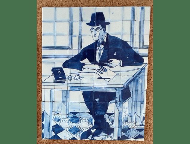 """Small Panel """"Fernando Pessoa"""" 19x23cm"""