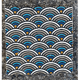 Azulejo artesanal 14x14cm - AA
