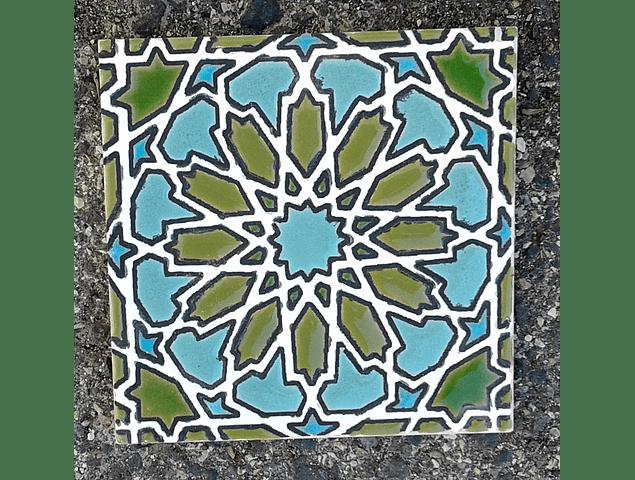Azulejo artesanal 14x14cm - BB