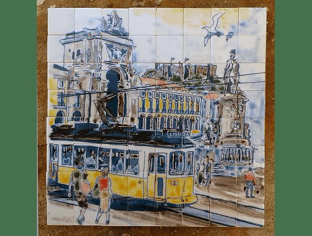 Painel  Lisboa com Elétrico