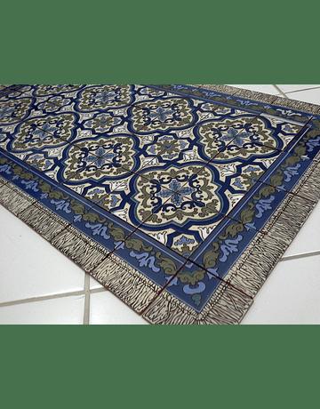 Tapete em Azulejos para chão Azul 1