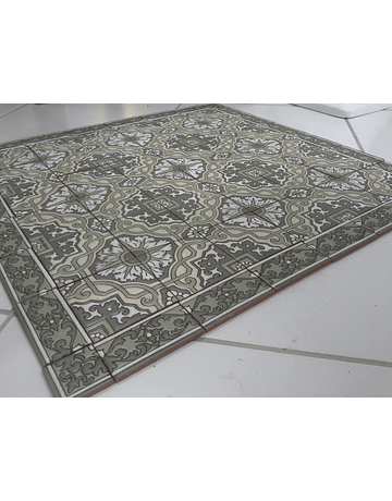 Tapete em Azulejos para chão - Verde 1