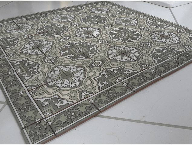 Floor Tile Rug - Green 1