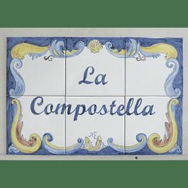 Painel de Azulejos Grande com Texto