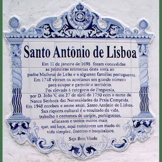 Painel de Azulejos com Texto, Borda Classica, recortada 4 lados