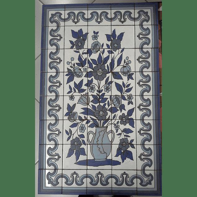 Painel de Azulejos Vaso Flores 1