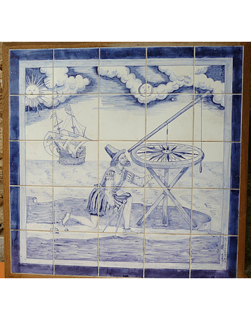 "Tile Panel ""Watching the sky"""