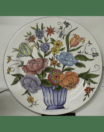 Assiette Murale Panier Fleurs Colorées