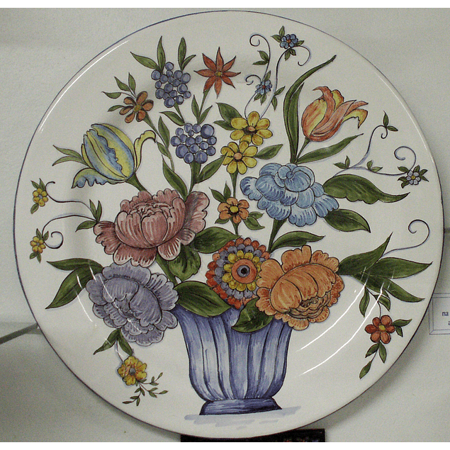 Big Wall Plate Color Flowers Basket