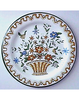 Ocre Basket Wall Plate