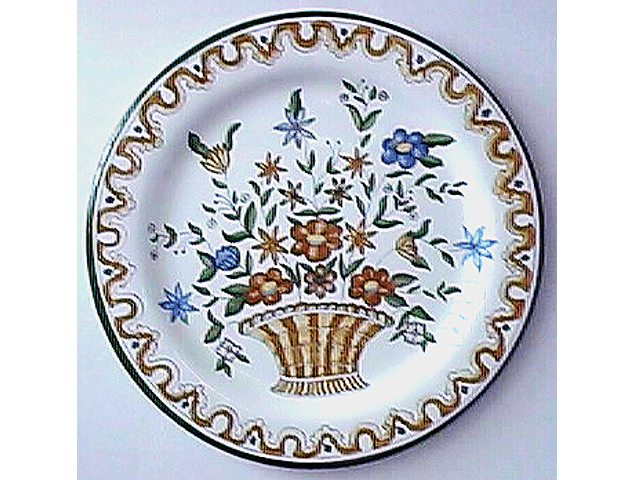 Ocre Basket Wall Plate