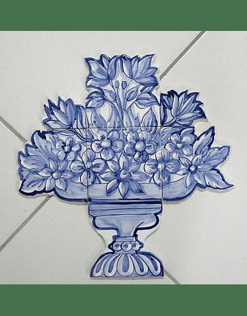 Panneau de tuile couper petit panier de fleurs