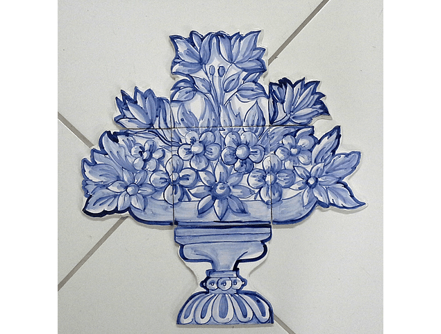 Tile Panel cut Small Flowers Basket