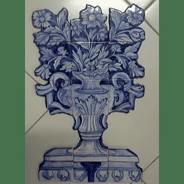 Painel de azulejos recortados Cesta Flores Grande