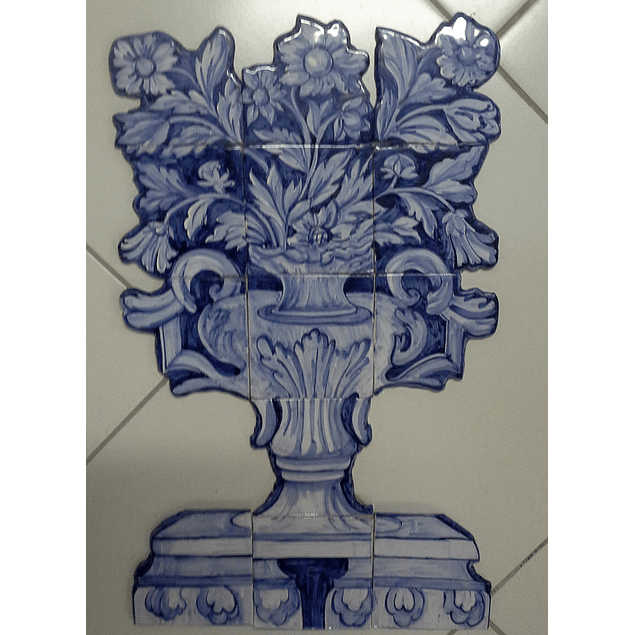 Tile Panel cut Flowers Basket Large