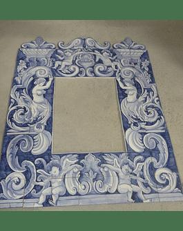 Marco doble en azulejo Panel