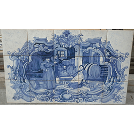 Painel de azulejos Monges