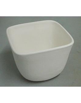 Small square cachepot in BISCUIT