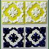 "Embossed tile 15X15CM RESTORATION ""Porto"""
