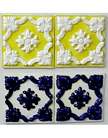 En relief carrelage 15X15CM restauration « Porto »