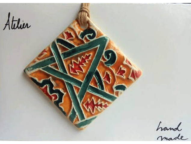 """Necklace """"Tiles and Mandalas"""" III"""