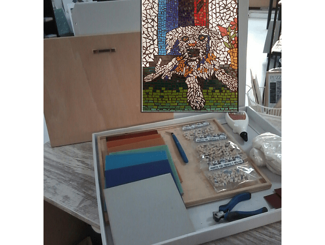 """Kit - DIY - DIY - Mosaic """"Dog"""" 34x26cm"""
