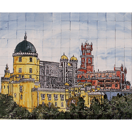 CERAMIC PUZZLE - PENA PALACE colored