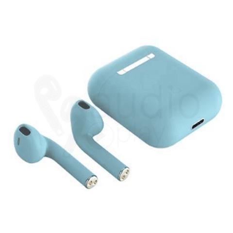 Audífonos Bluetooth i12 Celeste con Estuche de Carga