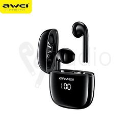 Audífonos Bluetooth T28P Negro con Estuche de Carga