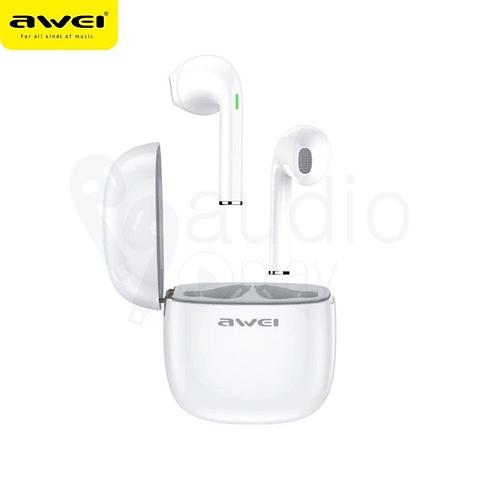 Audífonos Bluetooth T28 Blanco con Estuche de Carga
