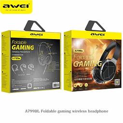 Audífonos Bluetooth A799BL Gamer Negro