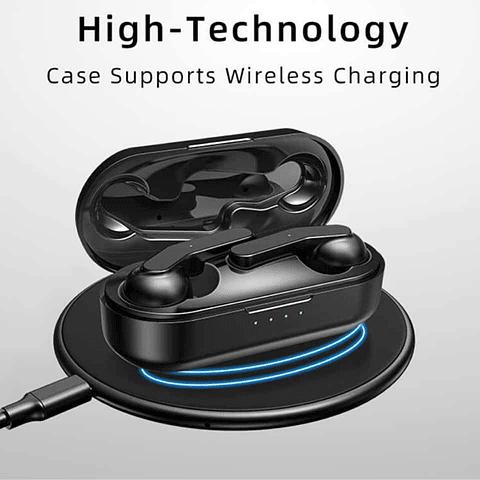 Audífonos Bluetooth T10C con Estuche de Carga y Wireless Charging