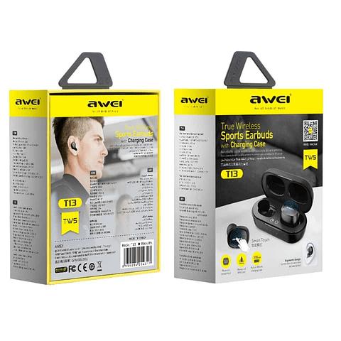 Audífonos Bluetooth T13S con Estuche de Carga