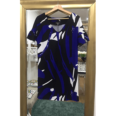 Vestido Marie Blue and Black