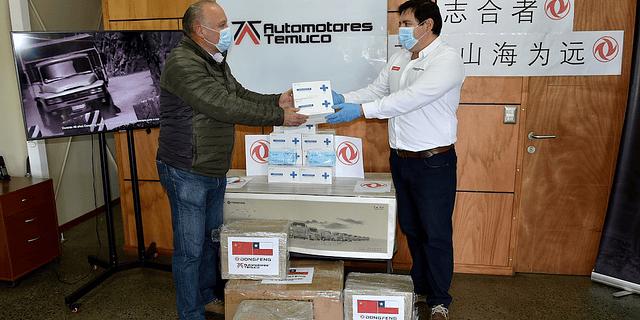 Automotores Temuco dona 10.000 Mascarillas junto a Dongfeng