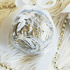 Bola de Natal Transparente decorada e com nome