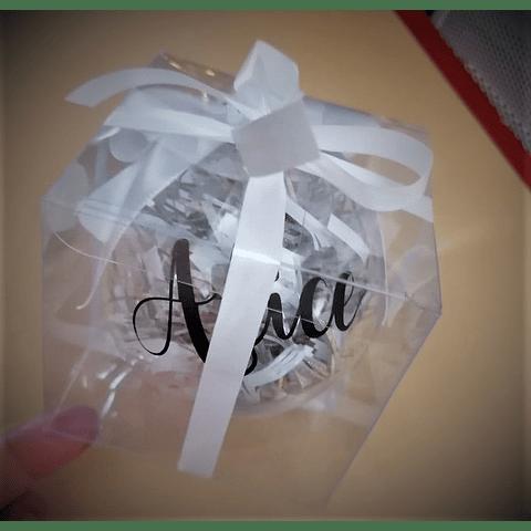 Bola de Natal Transparente com nome