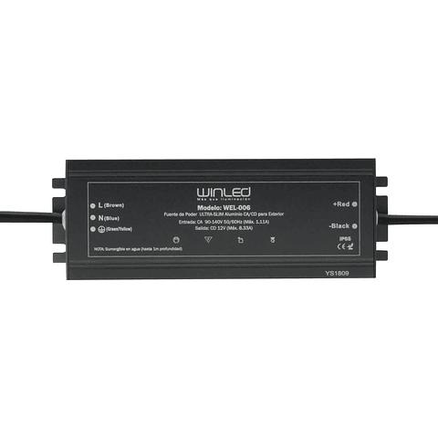 WEL-006 FUENTE DE PODER ULTRA SLIM 12V 100W EXTERIOR IP67