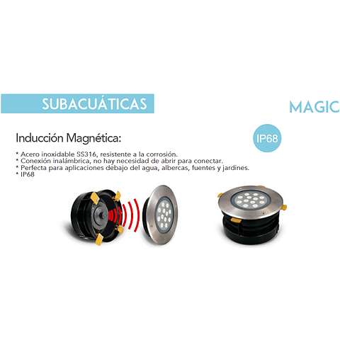 Magic Sub-aqua 77-1036-CW 12W 960Lm 127V IP68 5000K