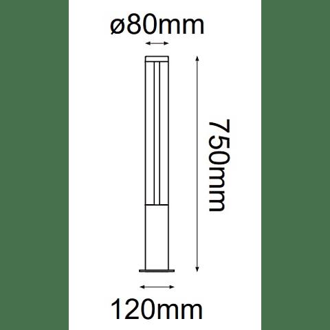 Polaris Baliza 10-2091-04 9W 500Lm 127V IP55 4000K