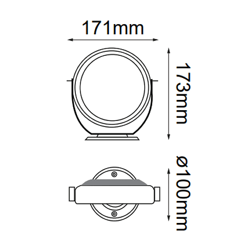 "Reflector Subacuático 05-7021-NW ""SQUID"" 15W CREE XRC LED 4000K"