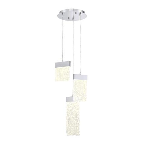 Q68273-CH ICE PENDANT LED TRES LUCES 6W 3000K