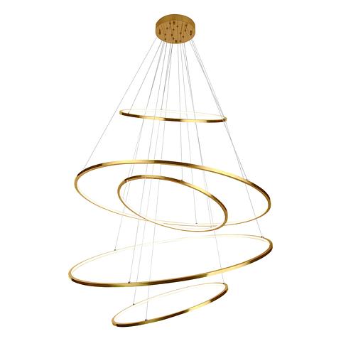 Q24485-GD Lámpara Kreis LED 5 Luces Acab. Oro 300W