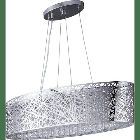 E21310-10PC Lámpara Inca 9 Luces Oval Acab. Cromo