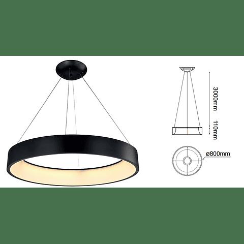Q21092-BK Lámpara Theo LED D800*H110 LED 127V 92W BK