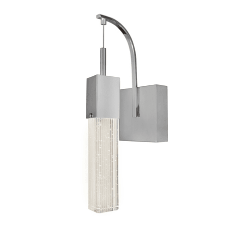 E22760-89PC Fizz III Lámpara a Muro LED 1 Luz 7.5W 3000K Cristal y Cromo
