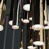 E10017-MPLT Lámpara Flute 35 Luces LED 119W 3000K Acero Inoxidable