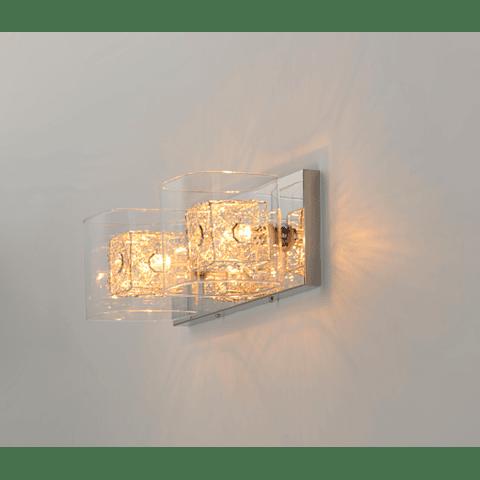GEM 2 Luces E22832-18PC Lámpara a Muro Acab. Cromo Pulido