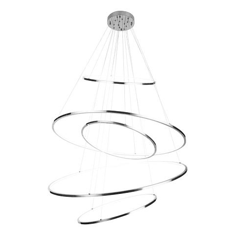 Q24485-CH Kreis Pendant D1200*H2500 LED300W 5 luces